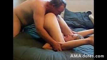 Young blonde wife shared with old man