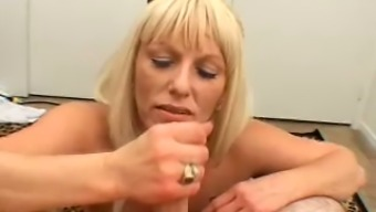 Beautiful Lucy gives a lot absolutely adore by touching her lover's dick like a pro
