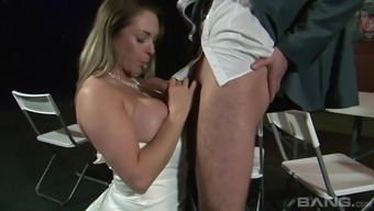 Kinky bride to be Victoria Summer months enjoying a boner on top of her legs