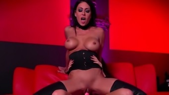 Red room and dry strap-on action