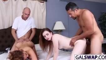 perverted cuties karlie and payton trade such a fathers