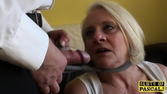 Bigtitted uk gran gets difficult control