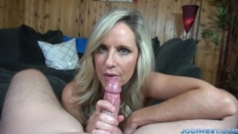 Jodi East movements a person penis until you ejaculate!