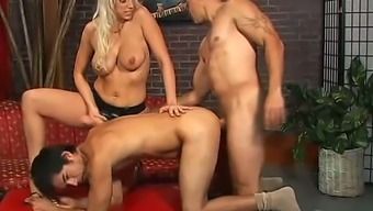 Wilderness bisexual MMF threesome matches very well for filthy harlot Nicki Buyer