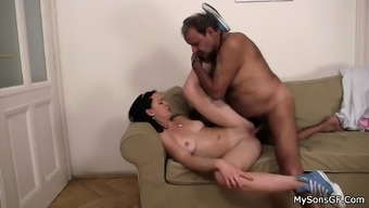 Old one trapped drilling his son's girlfriend