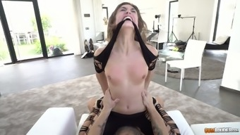 Offensive Spanish tramp Julia Roca gives a rimjob and gets her pussy and face fucked