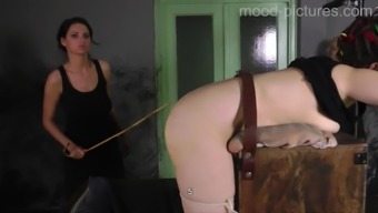 Involved missy requires to whisper even though lady friend punishes her booty