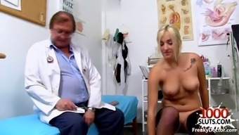 Hot doctor gaping with cumshot