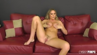 Nothing makes Alexis Adams delighted like bumping toward the couch