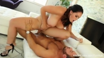 Statuesque hottie Alison Tyler face fucks & fucks toward the couch