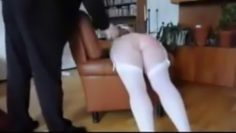 Woman spanked