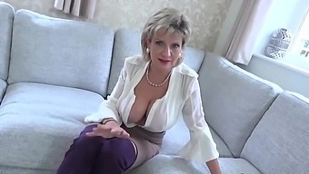 Aunt Sonia loves to help you jerk off