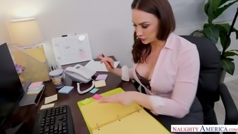 Big bottomed and busty secretary Chanel Preston gets her pussy nailed in the office