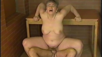 Elderly lady craves to feel a swollen love tool up her snatch