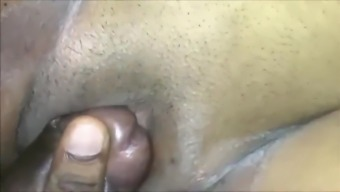 Indian rubbing clit with his dick Close Up