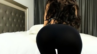 Big ass POV. Close up ass in leggings. Spandex.