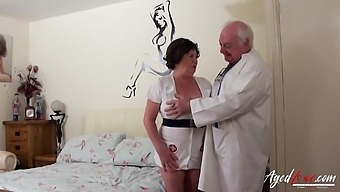Old nurse cums to life with an old perverted doctor