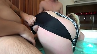 A real delight to fuck this fat ass mature in both her tiny holes