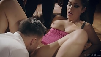 Wild fucking on the table between a lucky stranger and Alina Lopez