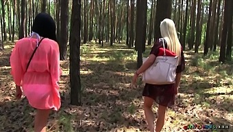 Kinky lesbian sex in outdoors with Czech stars Keira and Michelle