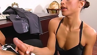 Wild fucking in the office with anal loving coworker Jayna Oso