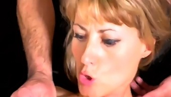 German Milf In Lingerie Plays Out Her Gangbang Fantasy
