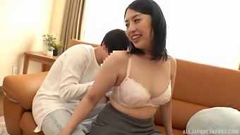 Homemade amateur video of a chubby Japanese getting fucked