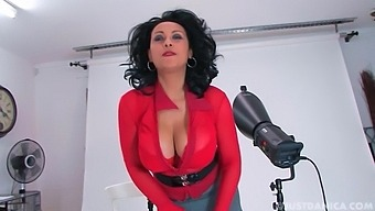 Smoking hot Danica Collins teasing with her huge round boobs