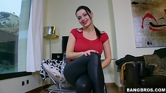 Aletta Ocean makes a guy happy by playing with his hard pecker