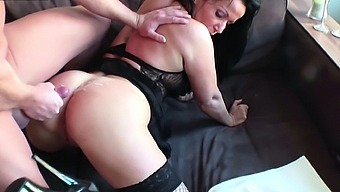 German Cougar STEP MOM caught by SON and Seduce to Fuck
