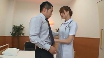 Quickie fucking on the bed with hot Japanese doctor Akiho Yoshizawa