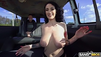 Balls deep pussy and ass drilling with slutty Arabelle Raphael
