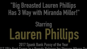 Major Breasted Lauren Phillips Has 3 Way with the use of Miranda Miller!
