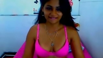 Desirable Latina babe confirmed her foodstuff despite the fact that webcamming