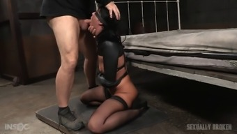 Blindfolded gal has grown to be merely a prisoner of a given two different perverted such offenders