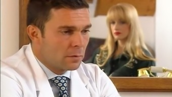 Guys gynecologist tests hairy pussy regarding a hot blonde girl