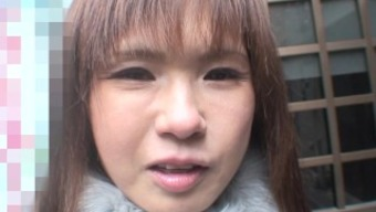 Japanese MILF with great titties outdoor storage sheds her snow wear to get fucked