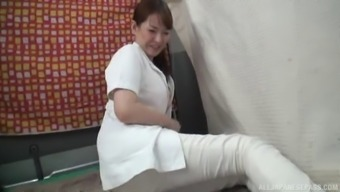 Lovely Japanese people healthcare provider chooses to really to a great extent please herself