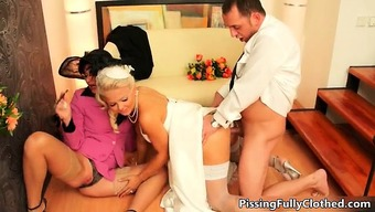 Naughty soon to be bride and her attractive mom part6