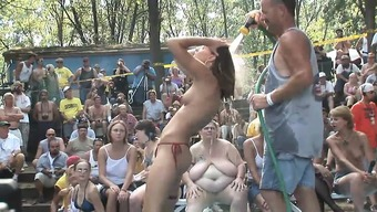 A bunch of crazy female get bare and start performing arts for the camcorder