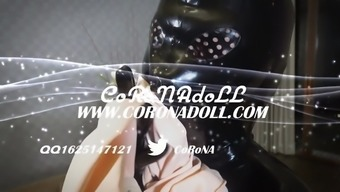 rubberdoll in baby doll 2(two) Individual layers Face mask