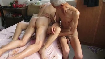 Far eastern Grand father Trio with the use of grow older girl