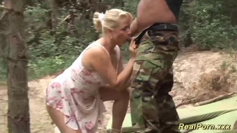 Naughty in german big organic bust MILF likes most desirable cock intercourse in the wild