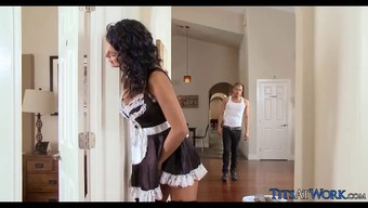 Naughty Maid gets Cock practical