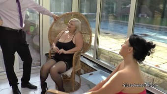 Males stripper gets lucky with the use of granny and mature