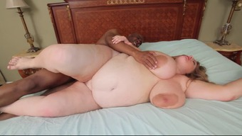 Becomes pregnant BBW with giant tits and areolas