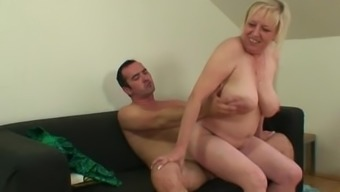 He realizes her old mother staying on her BF's penis