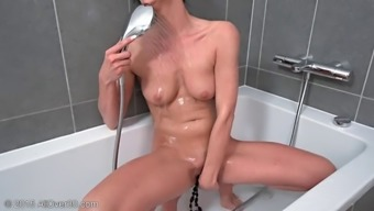 Sizzling and naughty shaft starving milf hands wrists and fingers her fuck gaps