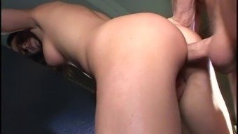 Attractive young adult butt-banged inside the public bus