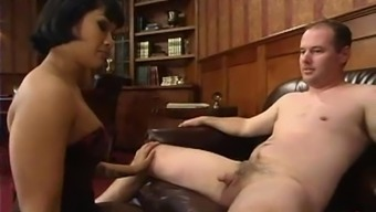 Perverted Asian lady friend Dragon Lily covers Jon's penis